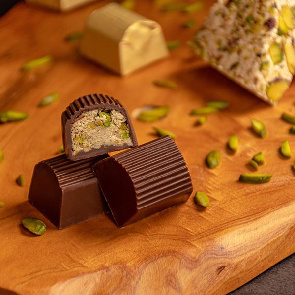 Milk Chocolate Halawa Pistachio