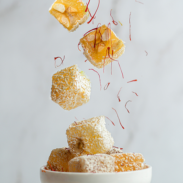 Turkish Delight Safron with Mixed Nuts